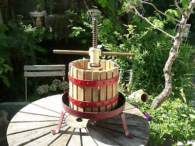 Vintage French cast iron fruit press