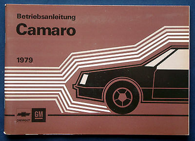 Owner's Manual * Betriebsanleitung 1979 Chevrolet Camaro (D)