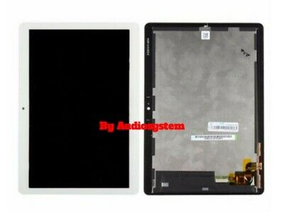 "DISPLAY LCD+TOUCH SCREEN HUAWEI MediaPad T3 10"" AGS-L03 AGS-L09 W09 VETRO BIANCO"