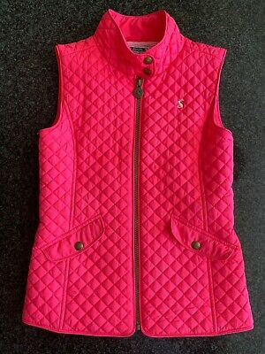 Joules Girls Pink Gilet, Age 9-10 Y.