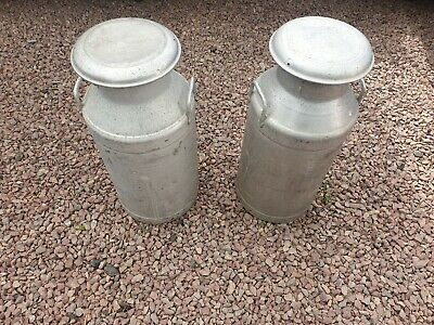 24 hour  sale 10 Gallon  Milk Churns Never Been Used New Old Vintage £80 each