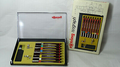 --------  Rotring Isograph Pens -- 8 Tuschefuller ------ College Set -------