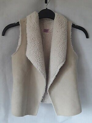 Girls Age 7 To 8 Years Suede Look Sleeveless Gilet F&F