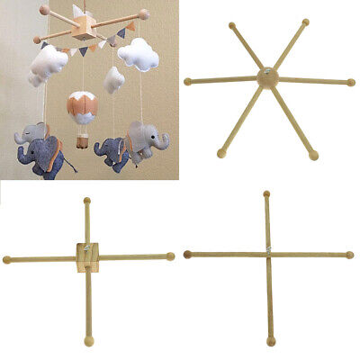 Baby Wind Chime Bracket Crib Hanger Infant Pram Wooden Frame Mobile Handmade