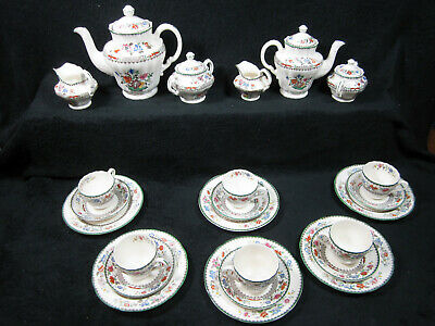 Spode 2/9253~24-Tlg Kaffee + Tee-Service~Chinese Rose~England~6 Personen~Top!!!!