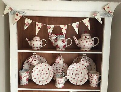 Emma Bridgewater Themed Bunting - 10 Flags - Rose & Bee And Pink Hearts