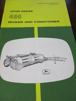 John Deere 480 Mower and Conditioner Operator's Manual and Parts Catalog 2 items