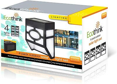 4-Pack:EcoThink Solar Powered Outdoor LED Lights