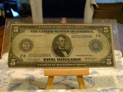 1914 $5 Frn,Redem In Gold Clause, Fr#848A,New York District,Tougher Sign Combo