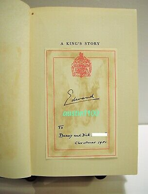 Duke of Windsor signed and dedicated presentation copy of ' A King's Story '.