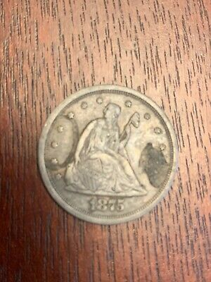1875 S Mint Mark Seated Liberty 20 Cent Piece