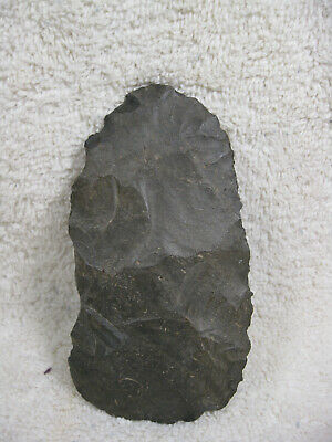 Authentic Stone Hand Axe Scraper Artifact