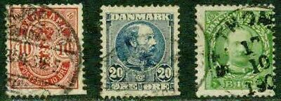 Denmark – 1882-1905  – Early Issues – F-Vf  °