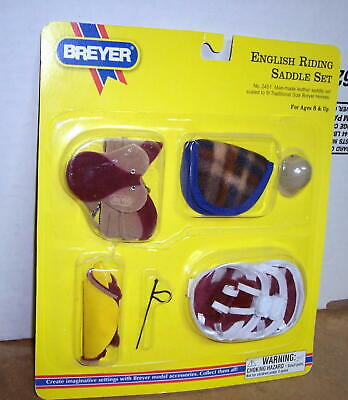 Breyer Horse English Riding Saddle Set  #2451  (New In Package)