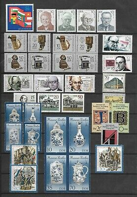 East-Germany/GDR/DDR: All stamps of 1989 in a year set complete, MNH