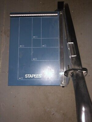 Staples A4 Guillotine Paper Cutter With Safety Shield