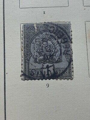 F54 Tunis Stamp Mint Hinged 1 Cent From Album