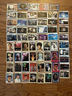 Vintage 1979 Star Trek Trading Card Lot of 62 Cards & Stickers