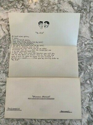 RARE Poem From JERRY LEWIS to Wife PATTI LEWIS circa 1953