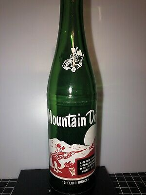 VTG MOUNTAIN DEW HILLBILLY POP Bottle 10 OZ