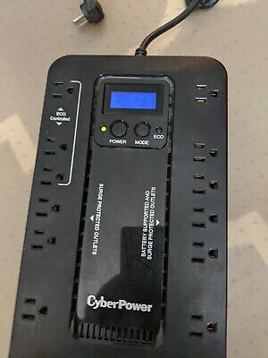 CyberPower EC850LCD  Ecologic 850 VA 510 Watts 12 Outlets UPS - USED
