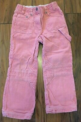 Fat Face Girls Pink Corduroy Trousers Age 4-5 Years