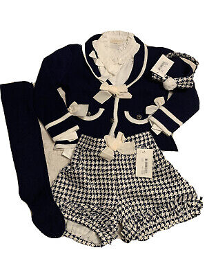 Girls Brand New With Tags Cesar Blanco Set Age 7 Years With Hairband And Socks