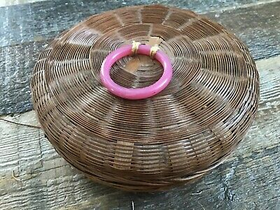 Vintage Antique Chinese Sewing Basket.., with bangle