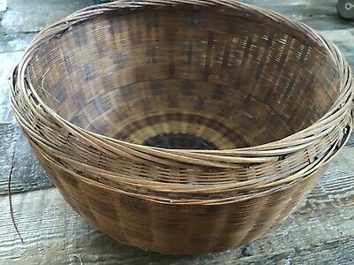 Vintage Antique Chinese Sewing Basket  Bottom only  China