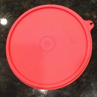 Tupperware 227 Red  Replacement Lid Fits Cereal & Wonderlier Bowl  & Canister