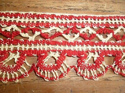 Vintage Antique Victorian Cotton Upholstery Trim Edging Ribbon 19 Metres 750""