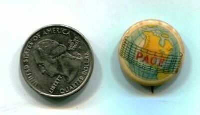 Antique Early 1900`S Adrian,Mi. Page Woven Wire Fence Co. Pin Back Button