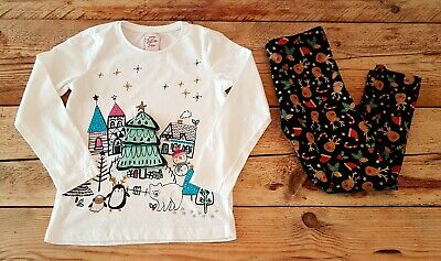 Girls Festive Christmas Clothes Age 5-6 Yrs, Rudolph Leggings & Long Sleeved Top