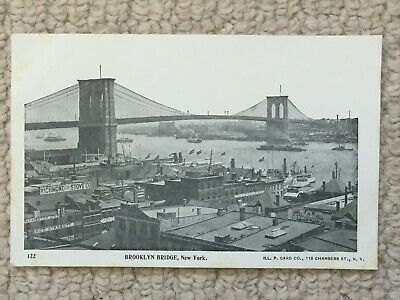 Vintage Postcard of Brooklyn Bridge New York