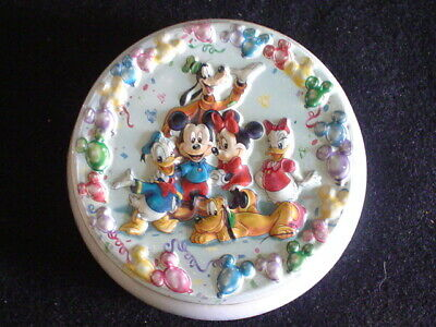Vintage Disney Candy Tin 3D Raised Metal The Fab Five  Sealed