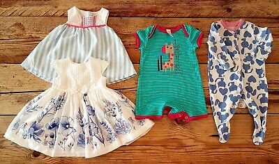 Baby Girl Small Clothes Bundle Age Newborn / 1 Month Dresses/Playsuit/Sleepsuit