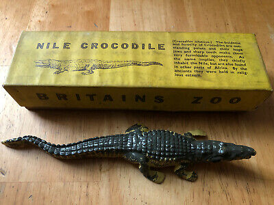Vintage Britains Zoo England Nile Crocodile No. 917 Lead Figure W.Britain NIB
