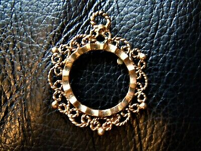Half Sovereign Really Fancy Flower round Mount  ONLY sold Gold 9 ct