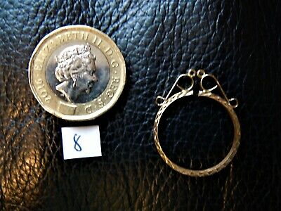 Half Sovereign Simple round Mount (8)  ONLY sold Gold 9 ct