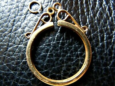 Half Sovereign Simple round Mount (10)  ONLY sold Gold 9 ct
