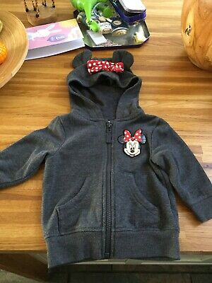 Next Minnie Mouse girls hoodie cardigan age 9-12 months