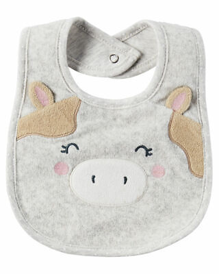 NWT - Carter's Baby Girl Water Resistant Teething Bib Cute Cow