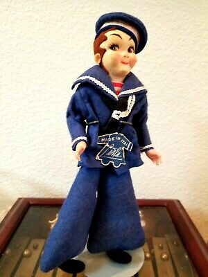 Vintage Sailor  Boy Doll  Collector Italy Dolls