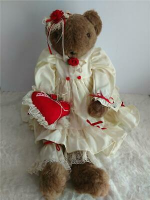 Handcrafted Valentine's Heart Love Teddy Bear by Friends from Fredrick NEW