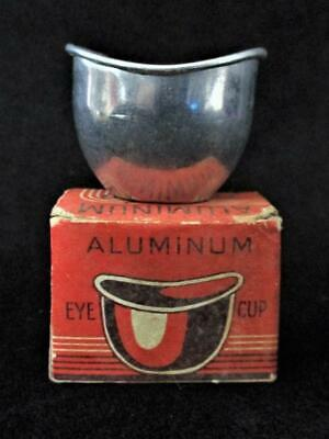 Vintage Eagle Products Aluminum EYE Wash CUP in Original BOX ~ Great GRAPHICS