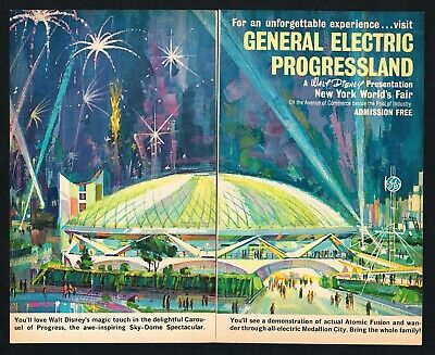 Disney's Carousel of Progress 1964 NY World's Fair Attraction AD GE Progressland