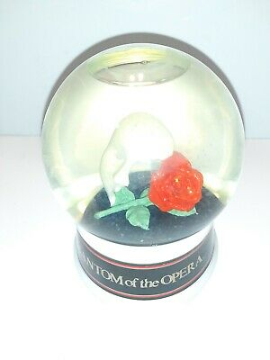 Vintage 1986 Phantom of the Opera Musical Snow Globe  Enesco Music Works