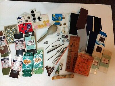 Huge Lot Of Vintage Sewing Notions, Bias, Thimbles, Boye Hooks, Tapes, Snaps Ect