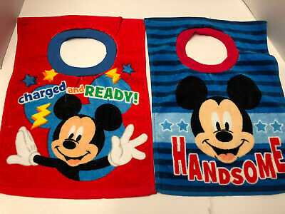 Disney Junior Large Cotton Mickey Mouse Infant/Toddler Bibs