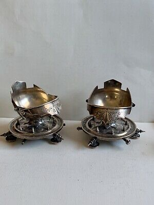 Unusual Antique Whiting Co. Knight Helmet Shape Sterling Bowls-Dishes -Cellars